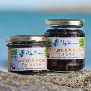 Tartare d'algues figue et miel en pot