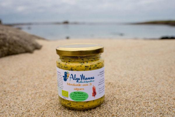 Moutarde aux 3 algues en pot