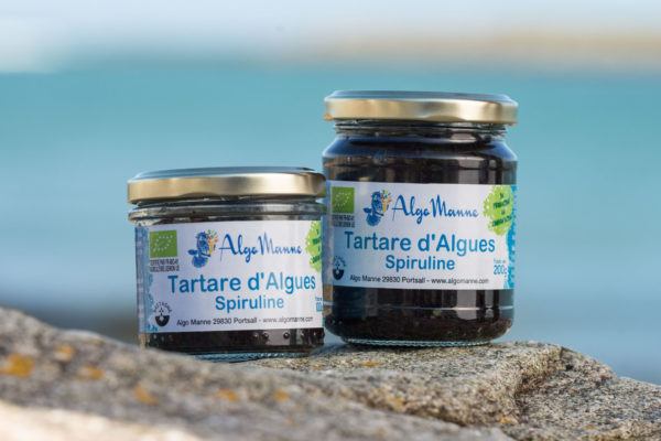 Tartare d'algues spiruline en pot