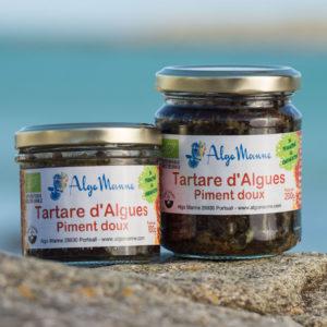 Tartare d'algues au piment doux en pot